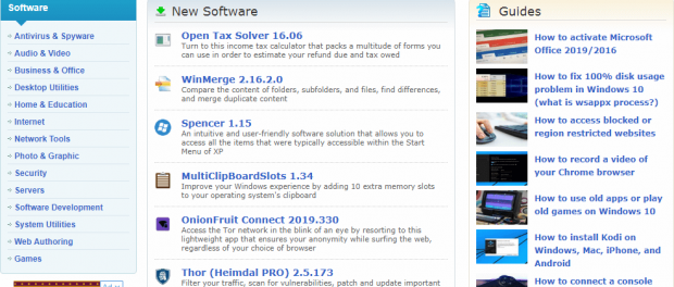 filecluster free software download sites