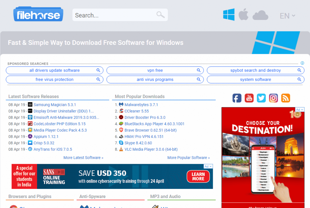 filehorse free software downloads