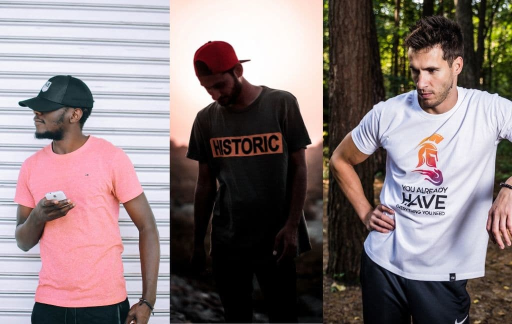 different style of man tees