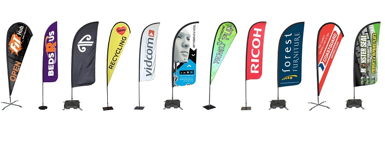 Promotional Flags for business product marketing