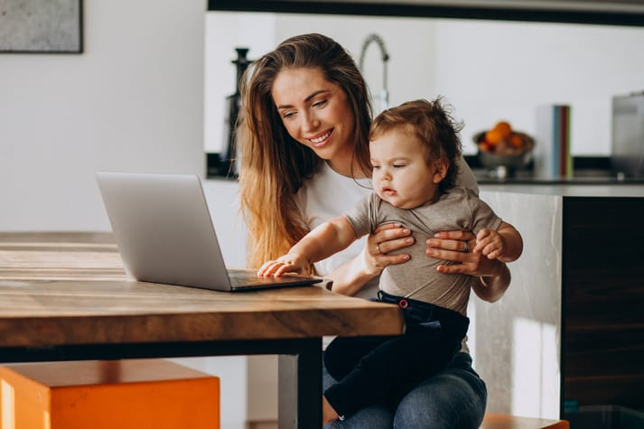 Tips for Work at Home Parents with Babies